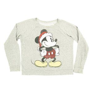 Disney Sweater Pullover Crew Neck Mickey Mouse Lrg